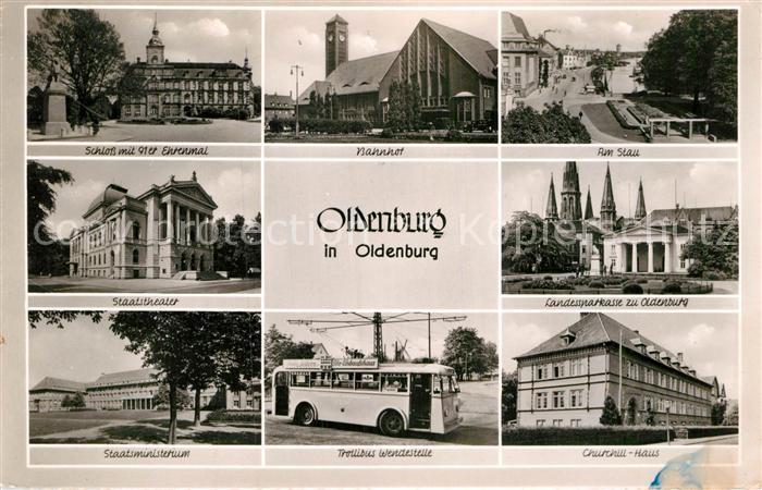 ak ansichtskarte oldenburg niedersachsen schloss 91er ehrenmal staatstheater staatsministerium. Black Bedroom Furniture Sets. Home Design Ideas