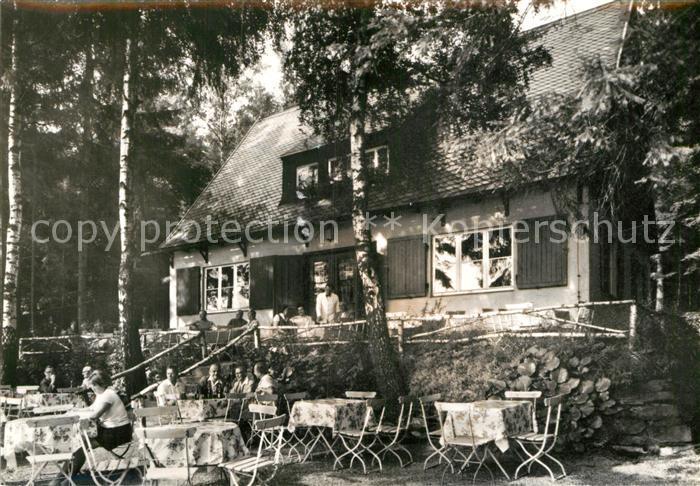 AK / Ansichtskarte Bad Elster Waldcafe Baerenloh Terrasse Kat. Bad Elster