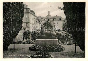 AK / Ansichtskarte Laasphe Schloss Wittgenstein Hirschskulptur Kat. Bad Laasphe