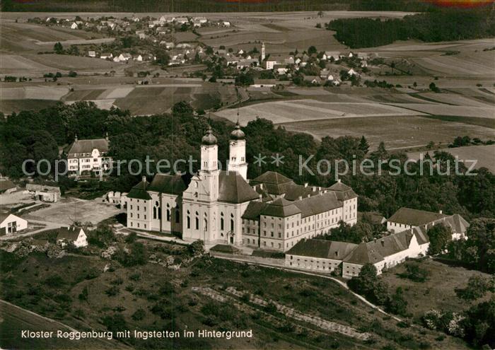 AK / Ansichtskarte Roggenburg Schwaben Kloster mit Ingstetten im Hintergrund Fliegeraufnahme Kat. Roggenburg