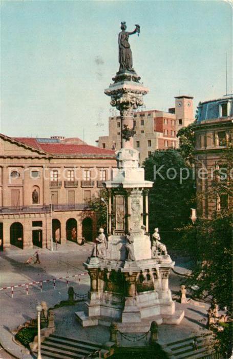 AK / Ansichtskarte Pamplona Navarra Monumento a los Fueros  Kat. Pamplona