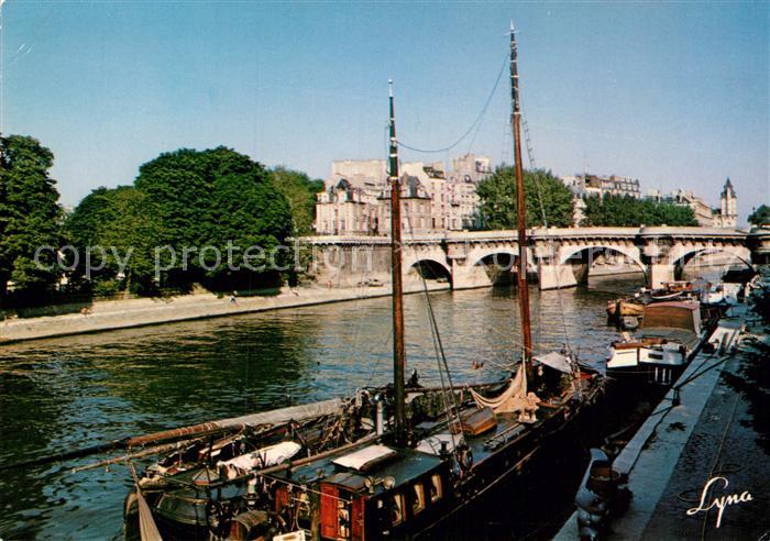 AK / Ansichtskarte Paris La Seine au Pont Neuf Kat. Paris