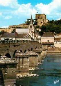 AK / Ansichtskarte Montrichard Pont sur le Cher Eglise Sainte Croix et le donjon Kat. Montrichard