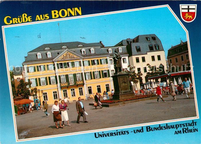 AK / Ansichtskarte Bonn Rhein Muensterplatz mit Hauptpostamt und Beethoven Denkmal Kat. Bonn