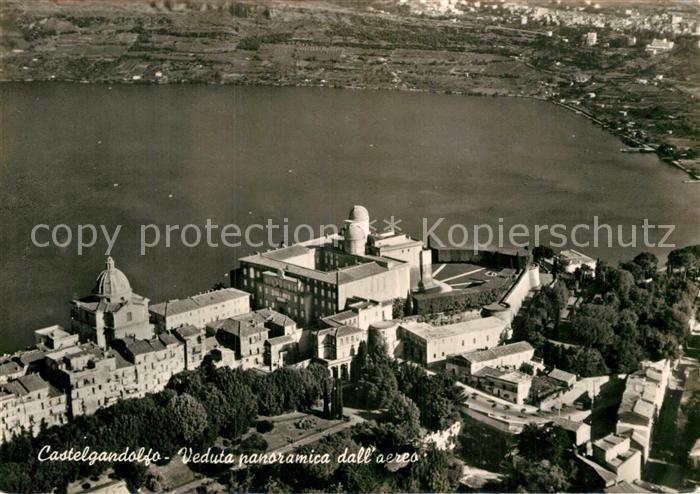 AK / Ansichtskarte Castelgandolfo Latium Residenza del Papa veduta dall aereo
