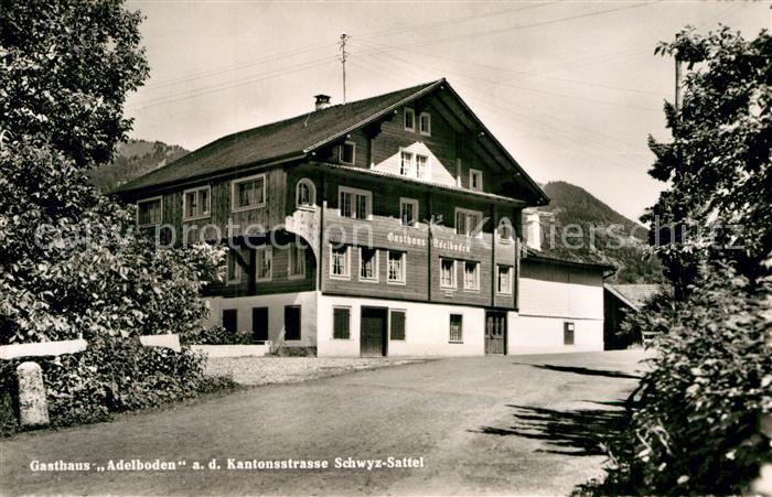 AK / Ansichtskarte Steinen SZ Gasthaus Adelboden  Kat. Steinen