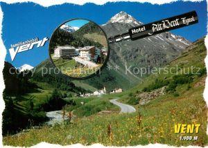 AK / Ansichtskarte Vent Tirol Hotel Alt Vent Kat. Soelden