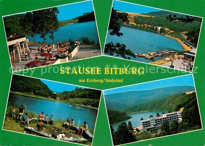 AK / Ansichtskarte Biersdorf See Stausee Bitburg Grillplatz Strandcafe Hotel Ferienstrasse Suedeifel Kat. Biersdorf am See