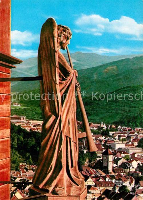 AK / Ansichtskarte Freiburg Breisgau Posaunenengel am Muensterturm Kat. Freiburg im Breisgau