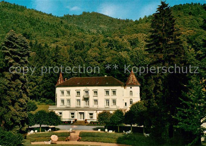 AK / Ansichtskarte Badenweiler Sanatorium Schlss Hausbaden Kat. Badenweiler