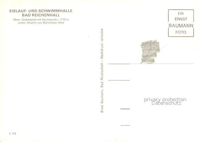 AK / Ansichtskarte Bad Reichenhall Eislauf Schwimmhalle Kat. Bad Reichenhall 1