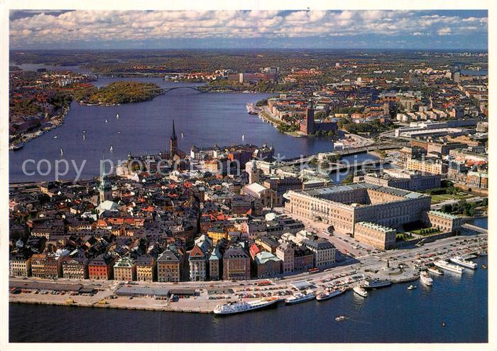 AK / Ansichtskarte Stockholm Fliegeraufnahme Kat. Stockholm