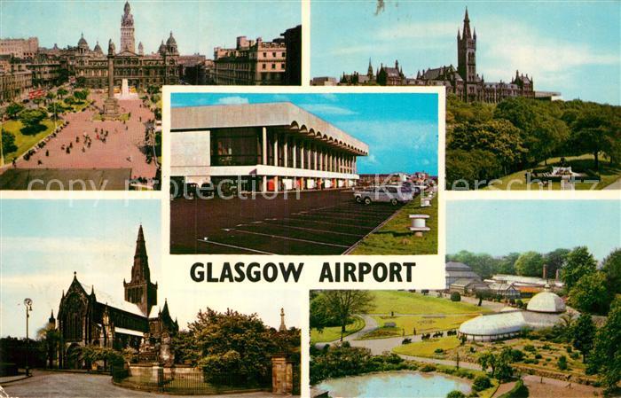 AK / Ansichtskarte Glasgow George Square The Cathedral The University Botanic Gardens Kat. Glasgow City