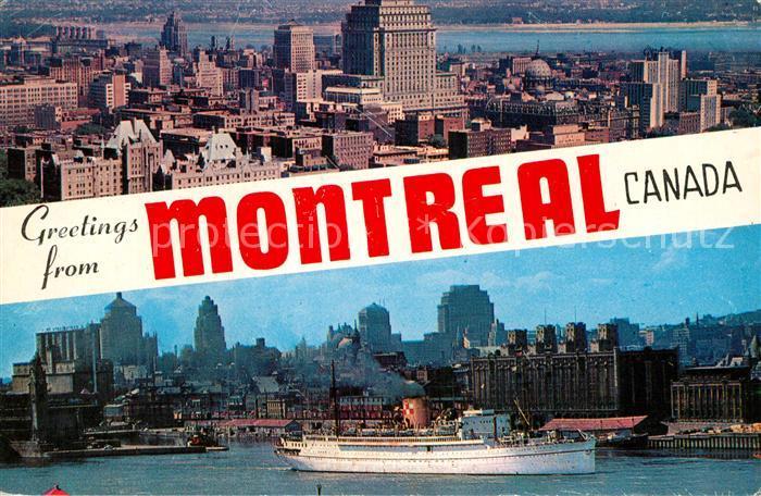 AK / Ansichtskarte Montreal Quebec Bottom Montreal skyline and Harbour Kat. Montreal