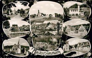 AK / Ansichtskarte Neckarzimmern Stadtansichten Kirche Burg Neckar Kat. Neckarzimmern