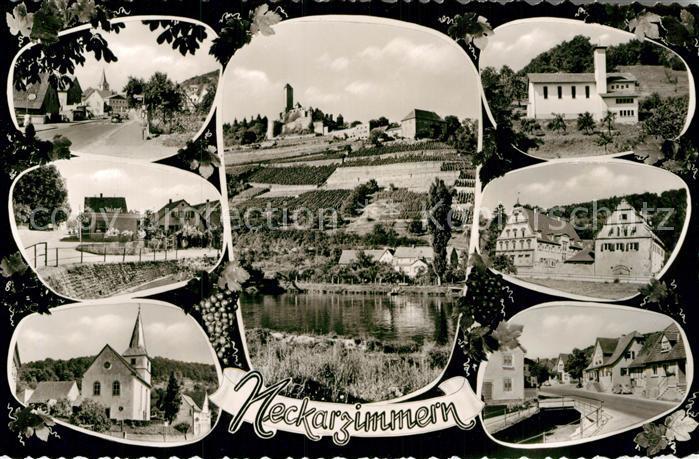 AK / Ansichtskarte Neckarzimmern Stadtansichten Kirche Burg  Kat. Neckarzimmern