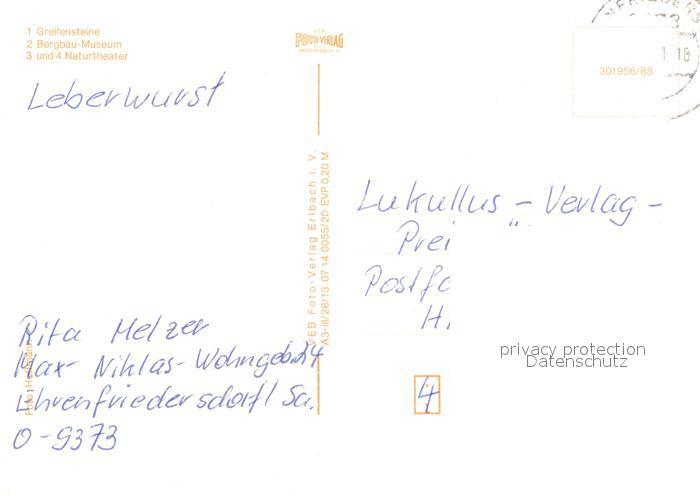 Bergbau Erzgebirge Karte.Ak Ansichtskarte Ehrenfriedersdorf Erzgebirge Rund Um Die Greifensteine Bergbau Museum Naturtheater Kat Ehrenfriedersdorf