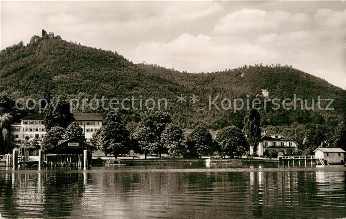AK / Ansichtskarte Bodman Bodensee Hotel Linde mit Sommerhaus am Seeufer