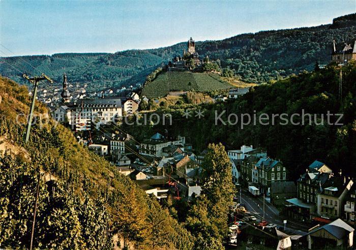 AK / Ansichtskarte Cochem Mosel Panorama mit Sesselbahn und Burg Cochem Kat. Cochem