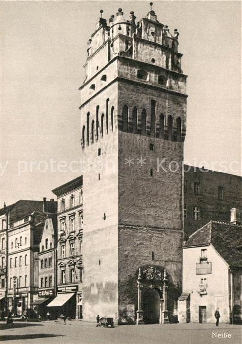 AK / Ansichtskarte Neisse Oberschlesien Breslauer Torturm Das