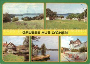 AK / Ansichtskarte Lychen Gr Lychensee Campingplatz Wurlsee Malerwinkel Oberpfuhlsee FDGB Erholungsheim Bertold Brecht Kat. Lychen