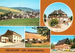 AK / Ansichtskarte Neudorf Annaberg Panorama HOG Vierenstrasse Betriebsgaststaette Gute Quelle Teilansicht FDGB Vertragshaus Haus des Volkes Kat. Oberwiesenthal