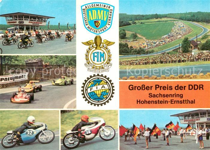 AK / Ansichtskarte Hohenstein Ernstthal Sachsenring GP der DDR Details Kat. Hohenstein Ernstthal