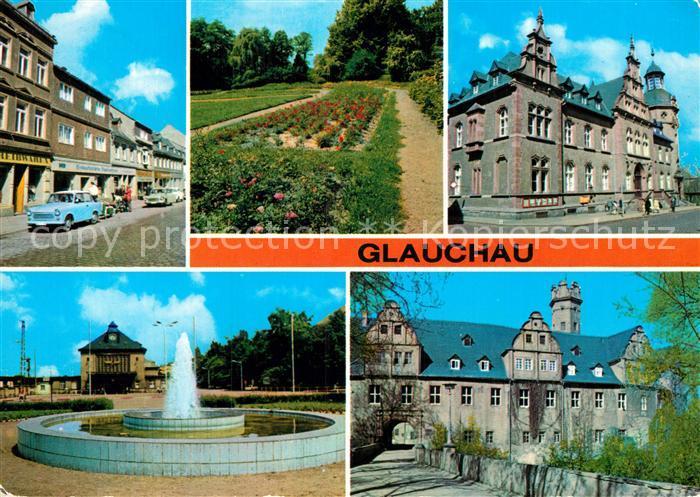 AK / Ansichtskarte Glauchau Dr Friedrichs Str Rosarium Bahnhof Schloss Forderglauchau Kat. Glauchau
