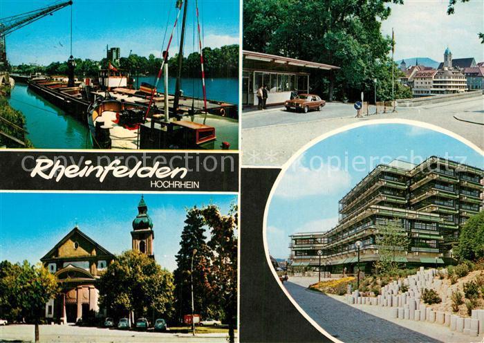 Ak ansichtskarte rheinfelden baden hafen kirche grenze kat rheinfelden baden nr df46993 for Freibad rheinfelden baden