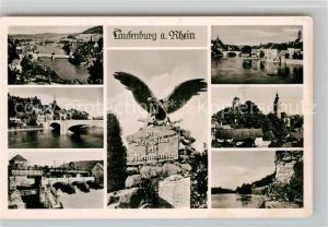 AK / Ansichtskarte Laufenburg Baden Panorama Rheinbruecke Denkmal Kat. Laufenburg (Baden)