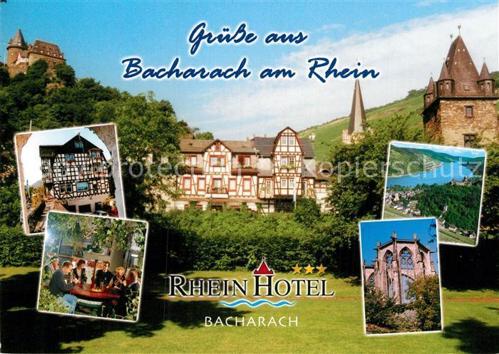 AK / Ansichtskarte Bacharach Rhein Rhein Hotel Kat. Bacharach