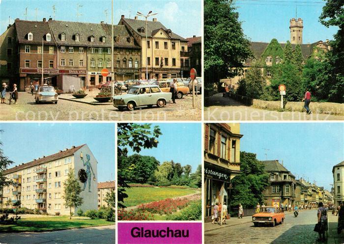 AK / Ansichtskarte Glauchau Markt Schloss Forderglauchau Rosarium Dr Friedrichs Str Kat. Glauchau