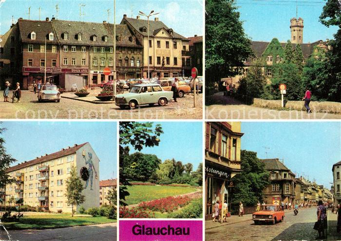 AK / Ansichtskarte Glauchau Schloss Forderglauchau Rothenbacher Kirchsteig Rosarium Dr Friedrichs Str Kat. Glauchau