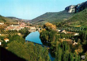 AK / Ansichtskarte Saint Antonin Noble Val Panoramique et vallee de l Aveyron Kat. Saint Antonin Noble Val