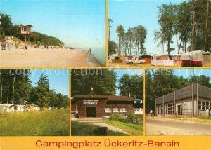 AK / Ansichtskarte ueckeritz Usedom Campingplatz ueckeritz Bansin Fischerhuette Gaststaette Campingzentrum Kat. ueckeritz Usedom