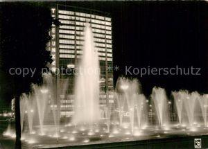 AK / Ansichtskarte Berlin Ernst Reuter Platz Wasserspiele Telefunken Hochhaus Nachtaufnahme Kat. Berlin