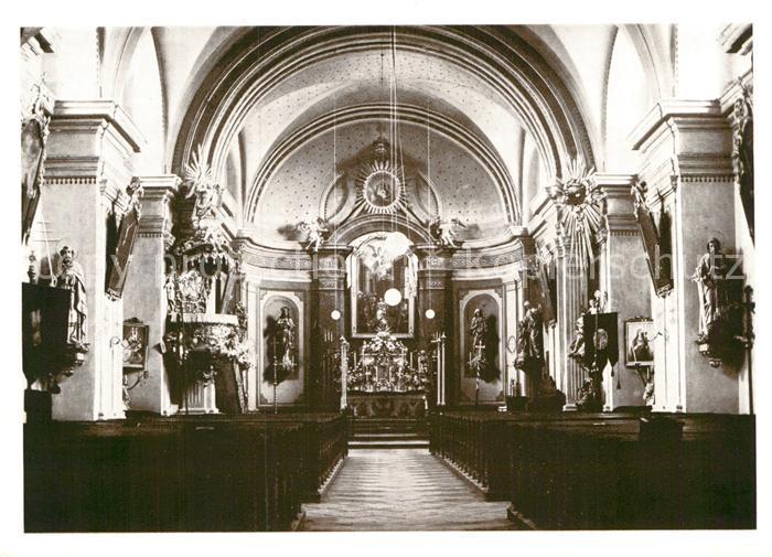AK / Ansichtskarte Markersdorf Goerlitz Pfarrkirche Innenansicht Kat. Markersdorf Goerlitz