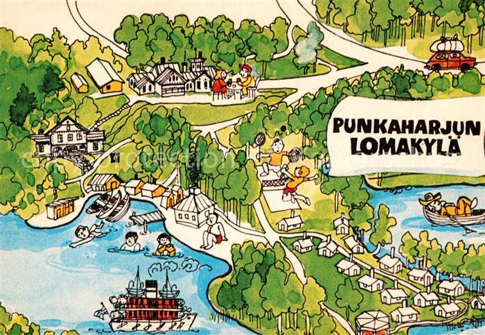 AK / Ansichtskarte Finnland Suomi Lomaliitto Karikaturen Kat. Finnland