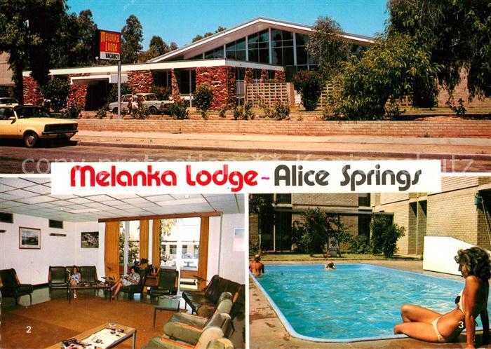 AK / Ansichtskarte Alice Springs Melanka Lodge Aufenthaltsraum Swimmingpool Kat. Alice Springs