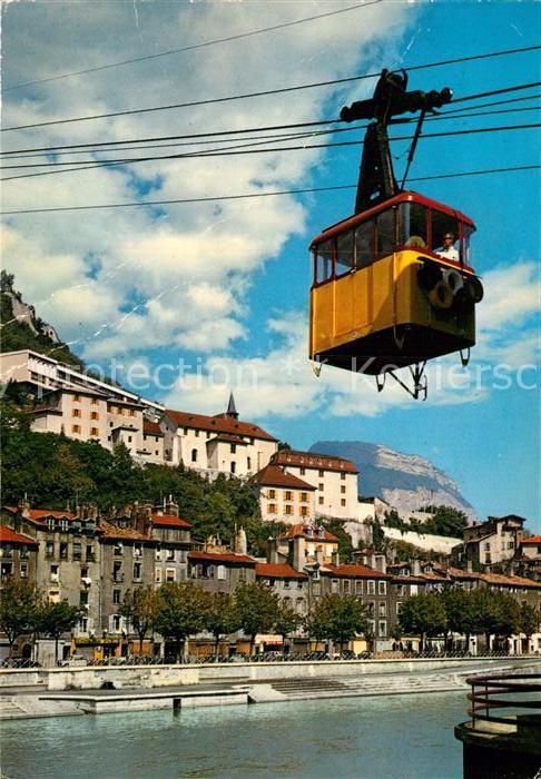 AK / Ansichtskarte Seilbahn Telepherique Bastille Grenoble Musee Dauphinois  Kat. Bahnen