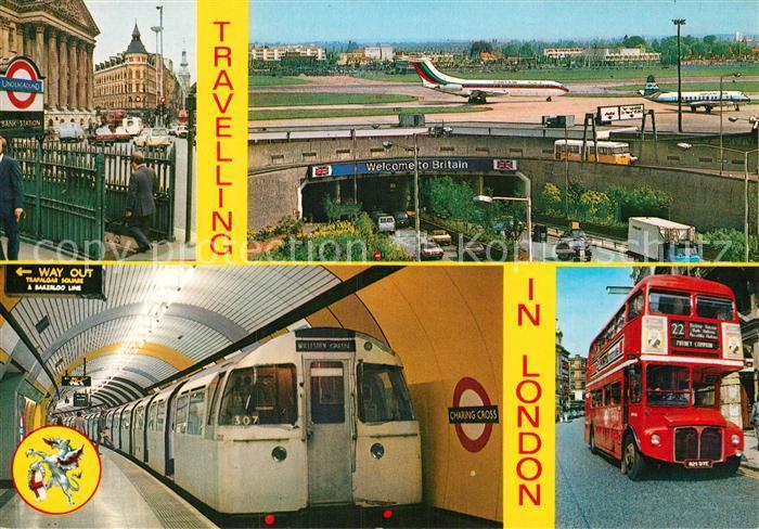 AK / Ansichtskarte U Bahn Subway Underground Metro Autobus London Heathrow Airport