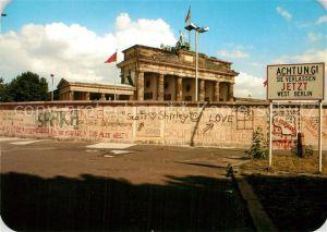 AK / Ansichtskarte Berliner Mauer Berlin Wall Brandenburger Tor  Kat. Berlin