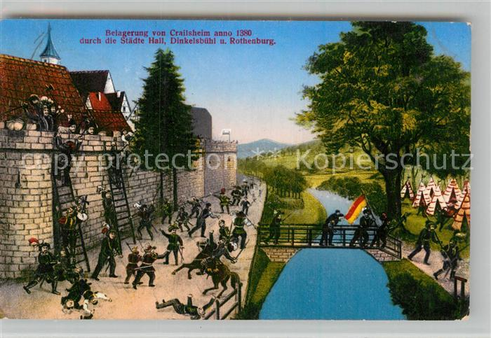 AK / Ansichtskarte Crailsheim Belagerung der Stadt anno 1380 Kat. Crailsheim