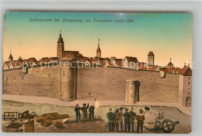 AK / Ansichtskarte Crailsheim Schlussscene der Belagerung anno 1380 Kat. Crailsheim