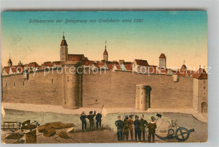AK / Ansichtskarte Crailsheim Schlussszene der Belagerung anno 1380 Kat. Crailsheim