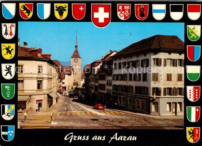 AK / Ansichtskarte Aarau AG Hotel Lion Dor  Kat. Aarau