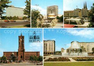 AK / Ansichtskarte Berlin Hotel Berolina Weltzeituhr Marx Engels Forum Rathaus Leninplatz Kat. Berlin