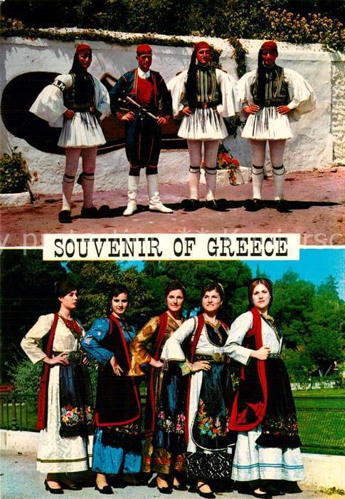 AK / Ansichtskarte Trachten Griechenland Evzonen Leibgarde