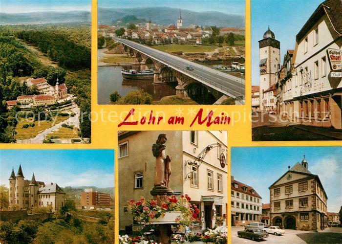AK / Ansichtskarte Lohr Main Kloster Maria Buchen Mainbruecke Bayersturm Kat. Lohr a.Main
