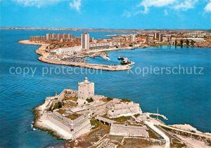 AK / Ansichtskarte Port de Bouc Vue aerienne Tour Carre et son enceinte bastionnee batie ar Vauban Kat. Port de Bouc